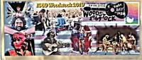 Woodstock 50th West Coast  FDC's Glossy Paper on Painted Envelopes  Cancelled