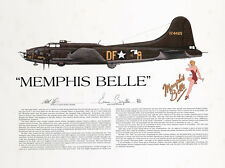 Memphis Belle, Signed by the pilot, Aviation Art Print, Ernie Boyette