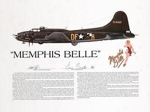 Memphis Belle, Signed by the pilot, Aviation Artist, Ernie Boyette
