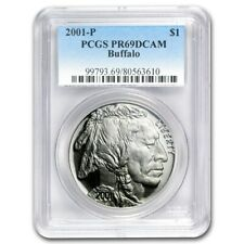 2001-P PCGS PR69 Proof Buffalo Commemorative Silver One Dollar Coin