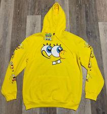 Men's SpongeBob SquarePants Nickelodeon Bikini Bottom Hoodie Yellow Size Large