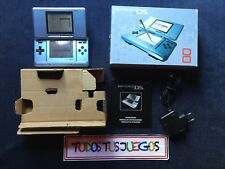 Consola Nintendo Ds FAT Azul + Cargador Original + Caja + Manual COMPLETA 0123