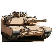 TANK CARDBOARD CUTOUT Standee Standup Poster Prop Army M1 Abrams Battle Tank F/S