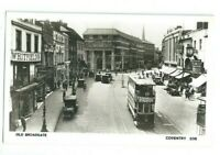 Postcard Old Broadgate Coventry  H & J Busst RP Tram
