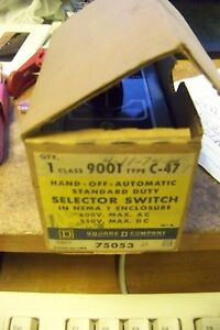 nos sqaure d 9001-c47 hand off automatic SELECTOR SWITCH