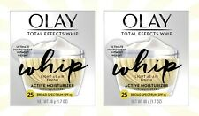2 Olay Total Effects Whip Face Active Moisturizer SPF 25 1.7 OZ EXP 02/22
