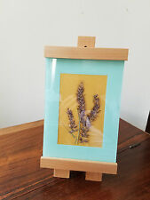 D. Anne Dried Floral Art Floral Design w/Michael Graves Maple Easel Stand Frame
