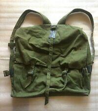 VINTAGE OLD MILITARY SOLDIER GREEN BACKPACK RUCKSACK-ALBANIA-45 CM X 45 CM-1988