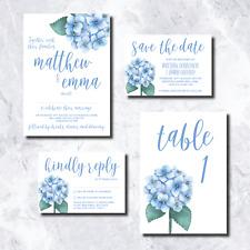 Wedding Invitations: Blue Hydrangea Style - Personalised