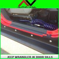 Door Sill Entry Guard Protection Fits: 2 Door Jeep Wrangler JK 07-18 Free Ship!