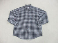 Brooks Brothers Button Up Shirt Adult Extra Large Blue Red Plaid Long Sleeve Men