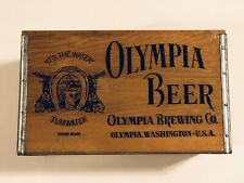 Olympia Brewing Co. Beer Crate W/ Handles - Checkerboard Cover