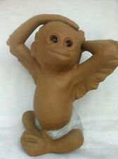Freeman-McFarlin Pottery Large Ceramic Baby Monkey signed Rutledge