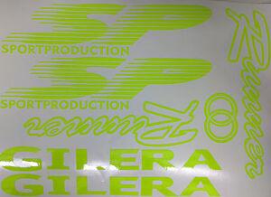 Gilera Runner SP Fluorescent Yellow Sticker/Decal Set SP FX FXR 125 172 180 183