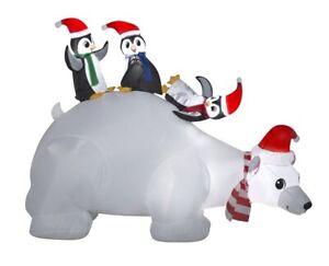Airblown Inflatable Polar Bear Family, 4.5ft
