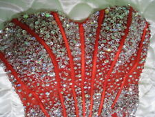Jovani Red Sweetheart Embellished Prom Evening Pageant Mermaid Dress Size 8