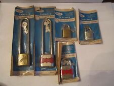 (9) WALSCO PADLOCKS IN THE ORIGINAL WRAPPING - VINTAGE - SEE PICS - TUB BN-16