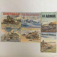 Squadron Signal Publications Lot Of 6 PB Books Sherman Destroyers M3 Panzer