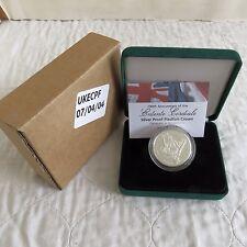 UK 2004 ENTENTE CORDIALE PIEDFORT £5 SILVER PROOF - boxed/coa/outer