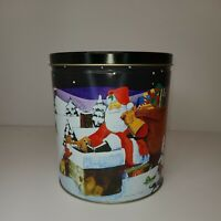 "7.5"" 1999-2000 Trail's End Gourmet Popcorn Christmas Wishes Collectible Tin"