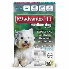 K9 Advantix II for Medium Dogs (11-20 pounds) 6 months supply  (not in box)