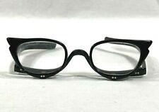 Vintage Revlon Horn Rim Flip Down Reading Eyeglasses Black Frame