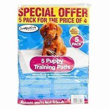 5 MEDIUM 50 x 40 CM DOG PUPPY TRAINER TRAINING SUPER ABSORBENT PADS SHEETS