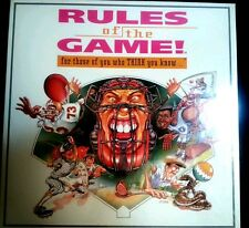 Rules of the Game! For those who Think you know...Sport Trivia Board Game NEW