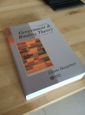 Introduction to Government and Binding Theory by Liliane Haegeman (Paperback,...