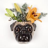Quail Ceramics - Pug Wall Vase - Fawn