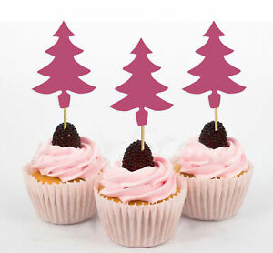 Darling Souvenir| Christmas Tree Cupcake Toppers| Dessert Decorations-VlY