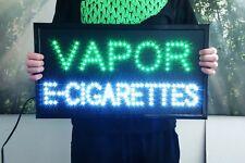 "24x13"" E-Cigs E-Vape Vapor E-Liquid Pens LED Open smoke neon tobacco shop Store"