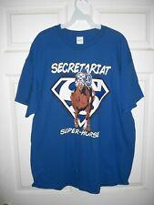 "Size Medium SECRETARIAT ""Super- Horse"" Blue T-Shirt in NEW, MINT Condition"