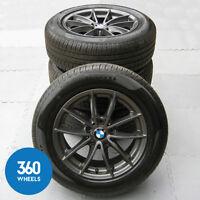 """GENUINE BMW 17"""" X3 X4 304 M SPORT V SPOKE ALLOY WHEELS NEW TYRES PIRELLI F25 F26"""
