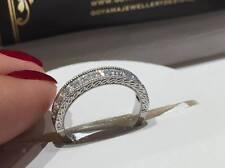 18CT WHITE GOLD 0.50CT FVS DIAMONDS HALF ETERNITY LADY RING GOY381