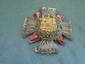 VINTAGE MASONIC REGALIA BADGE PATCH - FROM SILK SCARF ? SEE PICTURES