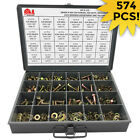 Grade 8 Hex Bolts, Nuts & Washers Assortment Kit COARSE THREAD - 574 Pieces!