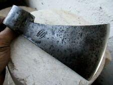 Antique Axe Wrought H.Q. Carbon Steel Reputable Blacksmith Signature Azevedo