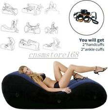 Portable Inflatable Bed Position Sex Pillow Inflation Cushion Set + Handcuffs SM