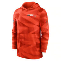 New 2020 NFL Cleveland Browns Nike Sideline Impact Hoodie Long Sleeve T-Shirt