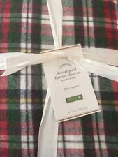 Pottery Barn Denver Plaid QUEEN Organic Flannel Sheet Set Woodsy Lodge Christmas