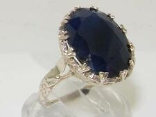 Solitaire Sapphire Sterling Silver Fine Rings