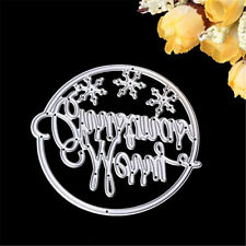 Merry Christmas Circle Frame Cutting Dies Stencils Scrapbooking Embossing Craft