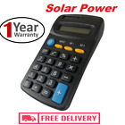 Brand New 8 Digit Pocket Calculator Large Buttons Dual Power Free delivery Uk