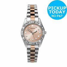 Sekonda Ladies' Two Tone Rose and Silver Colour Watch. The Official Argos Store