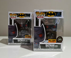 Funko Pop! Vinyl - Batman - Murder Machine - GITD - HOT TOPIC CHASE Bundle
