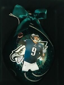 Philadelphia Eagles Nick Foles Super Bowl 52 LII Bradford Exchange Ornament NEW