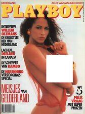 Dutch Playboy Magazine 1988-08 Eloise Broady, Cindy Crawford, 12 Dutch Beauties
