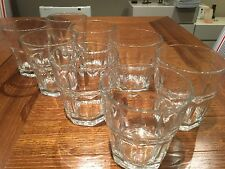 Set of 8 Old Fashioned Glass Tumbers - 200ml capacity - Like New