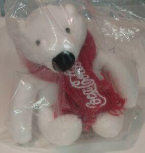 "Coca-Cola MINI COKE POLAR BEAR 4"" Plush STUFFED ANIMAL TOY, collector  plushie"